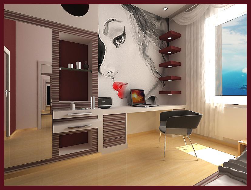 Дизайны маленьких комнат для девушек